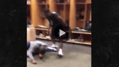 GA Tech football player KO's his teammate again.