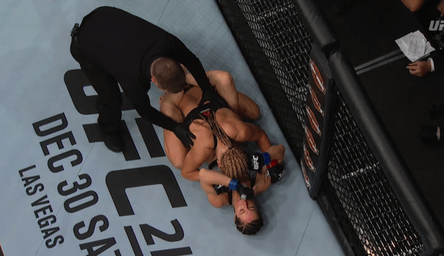 Angela Magana Suffers Ufc Wardrobe Malfunction Gets Dominated By
