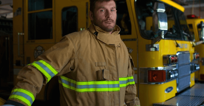 UFC heavyweight champ Stipe Miocic working as a firefighter.