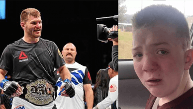 Stipe Miocic and Keaton Jones.