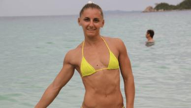 UFC strawweight contender, Alexandra Albu.
