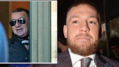 UFC lightweight champion Conor McGregor and his father.