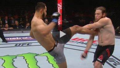 UFC Results: Dominick Reyes def. Jeremy Kimball via submission (rear-naked choke) in round one.