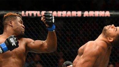 Francis Ngannou brutally knocks out Alistair Overeem at UFC 218.