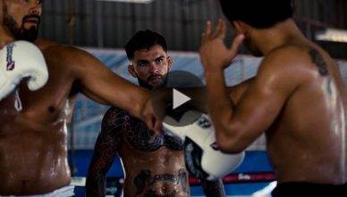 UFC bantamweight Cody Garbrandt training hard.