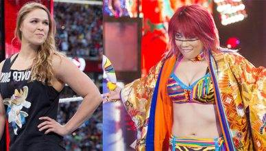 Ronda Rousey and WWE superstar Asuka.