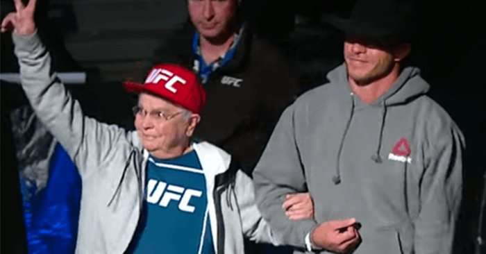 Donald Cerrone with his grandmother.