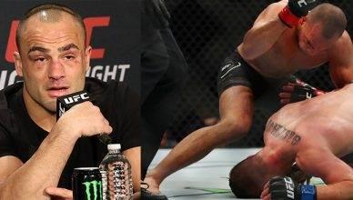 Eddie Alvarez TKO's Justin Gaethe at UFC 218.