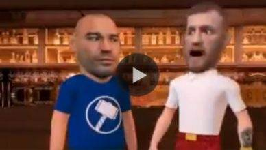 Animated parody of Conor McGregor during the alleged bar fight.