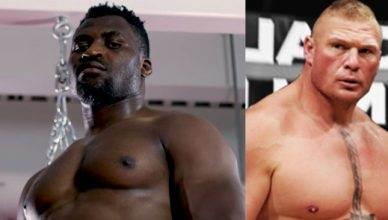 Francis Ngannou wants Brock Lesnar.