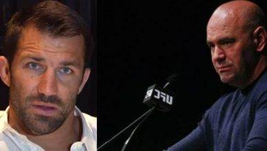 Luke Rockhold and Dana White.