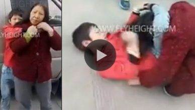 A young boy used his jiu itsu skills against his own mother.