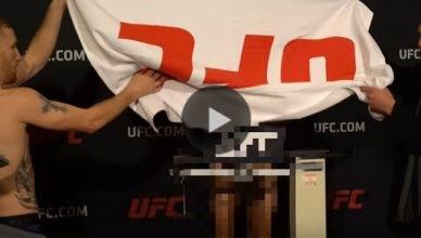 "UFC champion Max Holloway had a slight "" UFC wardrobe malfunction."""