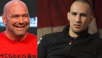 UFC President Dana White and Rory MacDonald.