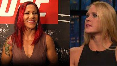 Cris Cyborg and Holly Holm.