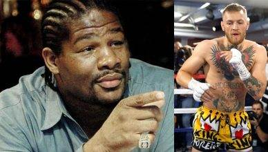 Boxing legend Riddick Bowe and Conor McGregpr.