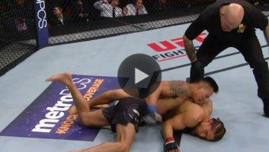 UFC Results: Andre Soukhamthath def. Luke Sanders via TKO in round two.