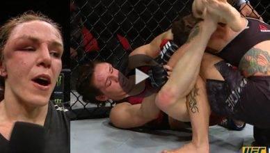 UFC Results: Alexis Davis def. Liz Carmouche via split decision (29-28, 29-28, 29-28).