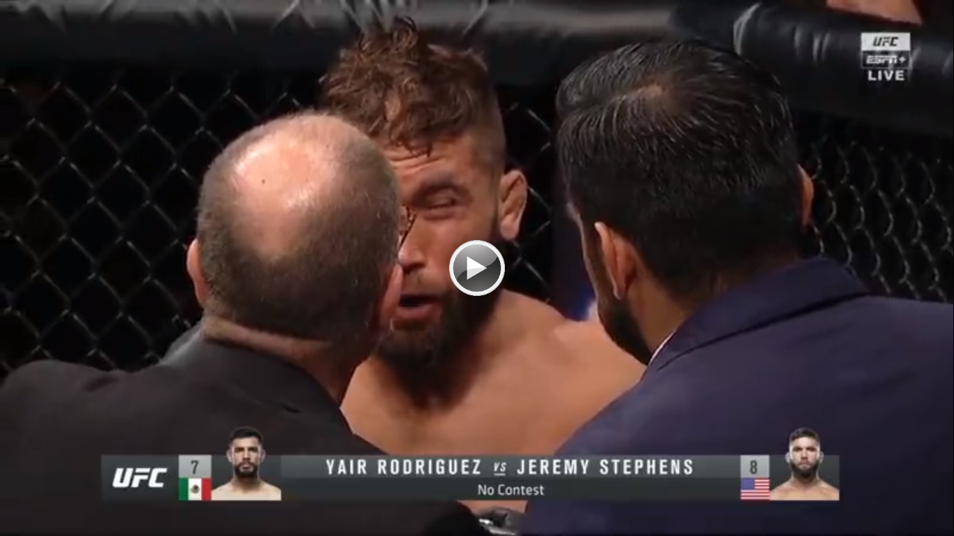 Yair Rodriguez Lands A Nasty Eye Poke In The Opening Seconds